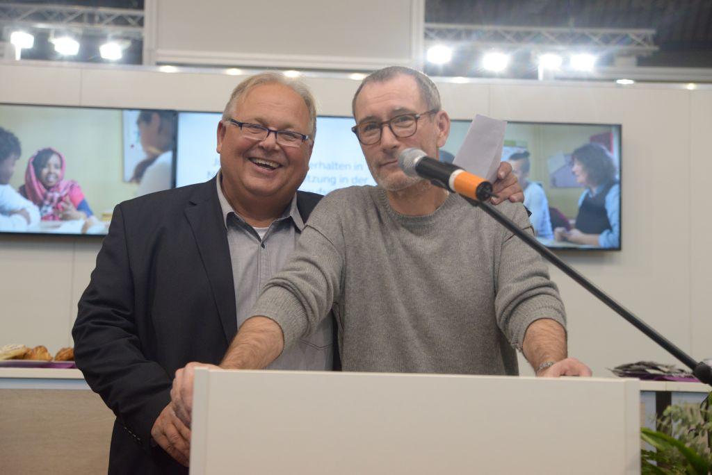 Olaf Forkel mit Schauspieler Heikko Deutschmann